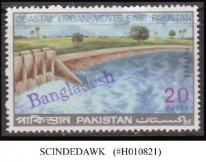 BANGLADESH OVERPRINTED ON PAKISTAN 20paisa STAMP 1971  - MINT NH