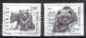 SWEDEN SC# 1922-23 **USED** 2.90k 1992-96  BEARS  SEE SCAN