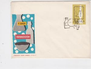 Poland 1960 Pharmaceuticals - Bottles slogan Cancel FDC Stamps Cover rf 22993