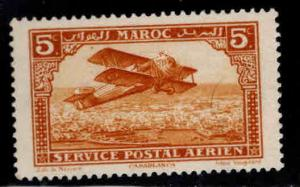 French Morocco Scott C1 MH* airmail bi-plane expect similar centering