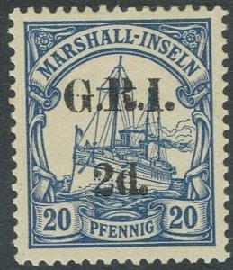GRI MARSHALL ISLANDS 1914 YACHT 2D ON 20PF 5MM SPACING