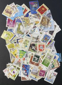 Lithuania Approximately 185 Stamps Used No Dupes