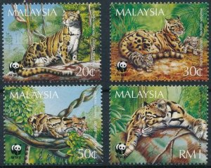 Malaysia MNH Set Of Wild Cats Wildlife WWF