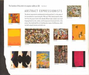 US 4444 - 44¢ Abstract Expressionists Unused