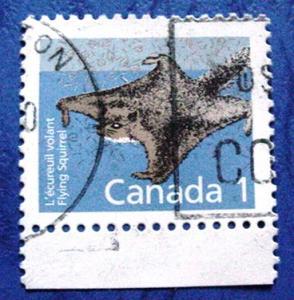 Canada 1155, 1c Flying squirrel, single, Used, VF