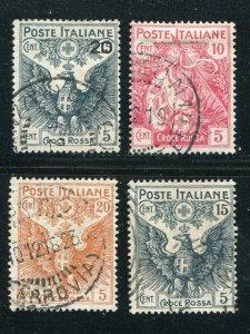 Italy #B1-4 Used  VF  - Lakeshore Philatelics