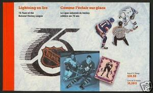 Canada 1443a,4a,5a Booklet MNH Ice Hockey, Sports