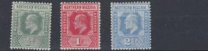 NORTHERN NIGERIA  1910 - 11     S G  28 - 31   VARIOUS VALUES TO 2 1/2D       MH