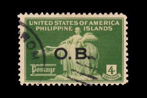 UNITED STATES PHILIPPINE ISLANDS 1935. SCOTT # O16. USED. OVERPRINTED