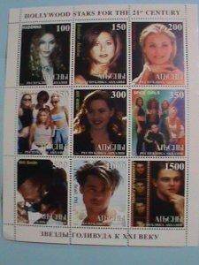 TUBA STAMP:1998 21ST CENTURY HOLLYWOOD STARES-MADONNA MNH STAMP SHEET.