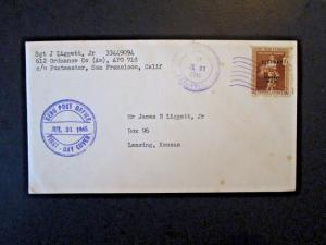 Philippines 1945 6 Cent Victory Issue FDC / CEBU CDS - Z4929
