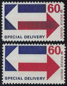 E23 - 60c Special Delivery Inking Error / EFO Mint NH