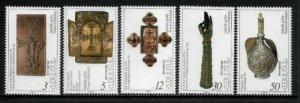 Armenia #459-63 MNH Set - Religious Relics