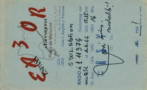 7211 Amateur Radio QSL Card  TARRAGONA ESPANA