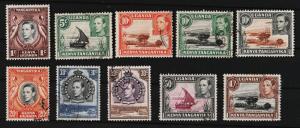 K.U.T. 1938 Various Designs 1c,5c,10c,10c,10c,20c,30c,50c,1s USED