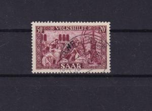 saar 1950 national relief  fund  used  stamp cat £190+  ref r15172