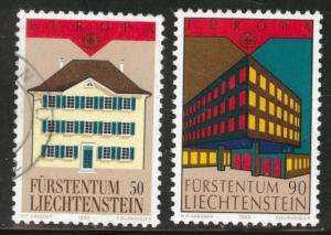 LIECHTENSTEIN Scott 924-925 mixed Europa 1990 set CV$1.85