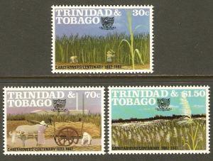 Trinidad & Tobago #371-3 NH Canefarmers Centenary