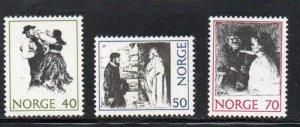 Norway Sc 579-81 1971 folk tales stamp set mint NH