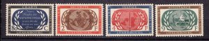 J27515 1955 luxembourg set mnh #306-9 united nations