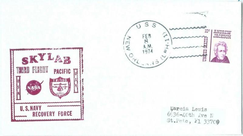 73882 - USA - Postal History - COVER  1974 - SPACE Astro SKYLAB