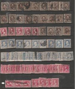 U.S. Scott #219-219D-220-222 Stamp - U.S. Used Lot