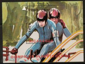 NICARAGUA SGMS3043 1989  WINTER OLYMPIC GAMES MNH