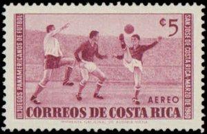 Coasta Rica #C283-C288, Complete Set(6), 1960, Sports, Soccer, Hinged