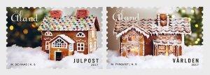 Stamps Aland Islands 2017 - Christmas 2017 - Gingerbread House - Set.