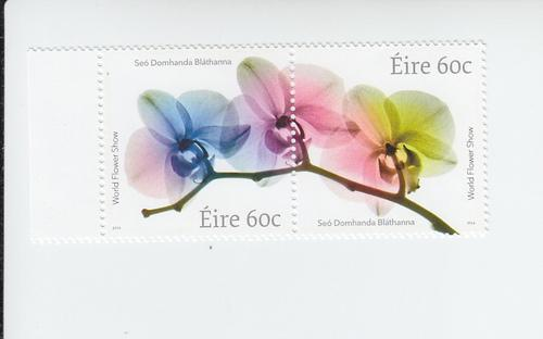 2014 Ireland World Flower Show Pair (Scott 2037-38) MNH