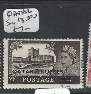 QATAR   (P1905B)  ON GB QEII  2R/2/6  SG 13   VFU