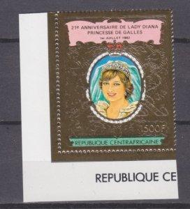 1982 Central African Republic 850 gold Princess Diana 15,00 €