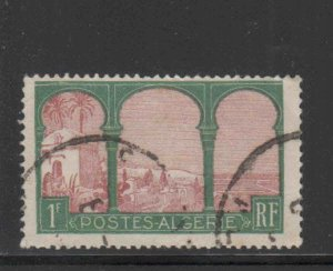 ALGERIA #58  1926  1fr  MARABOUT OF SIDI YACOUB        F-VF  USED