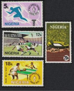 Nigeria Football Tennis 2nd All-African Games Lagos 4v SG#307-310