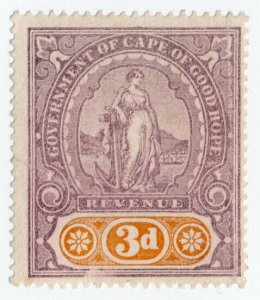 (I.B) Cape of Good Hope Revenue : Stamp Duty 3d