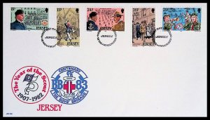 JERSEY 75TH ANNIVERSARY OF BOY SCOUTS MOVEMENT (1982) FDC