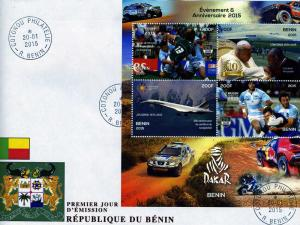 CONCORDE Rally Paris Dakar Sheet (4) Perforated in official FDC