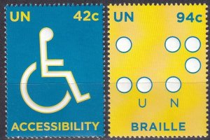 United Nations #960-1 MNH CV $2.75 (Z1675)