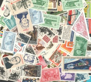 US Discount Postage 100 Mixed Stamps Mint Below Face Free Shipping (V)