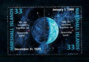 [102290] Marshall Islands 1999 Space travel weltraum Pair MNH
