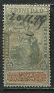 Trinidad QV 1896 5/ used with a revenue cancel