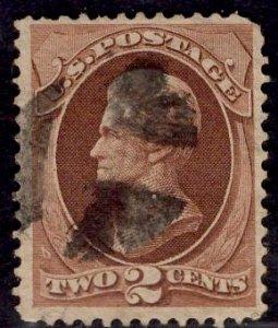 US Stamp #146 2c Red Brown Jackson USED SCV $17.20