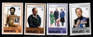 VANUATU Scott 304-307  MNH** Duke of Edinburgh set