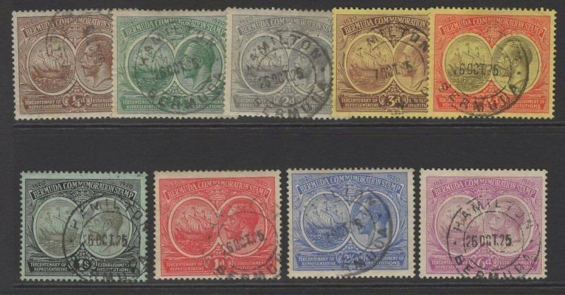 BERMUDA SG59/67 1920 TERCENTENARY FINE USED