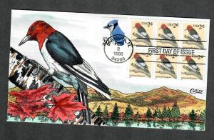 US Collins FDC SC#3032 Red-headed Woodpecker