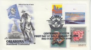 2007 Oklahoma Centennial Red Rock OK FDOI Artcraft 6