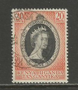 Kenya,Uganda,Tanz.  #101  used  (1953)