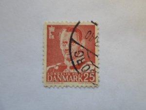 DENMARK STAMP. USED. NO HINGE, # 28