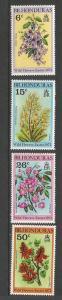 BRISTISH HONDURAS 292-95 MOG  FLOWERS Q486