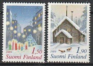 1989 Finland - Sc 808-9 - MNH VF - 2 single - Christmas